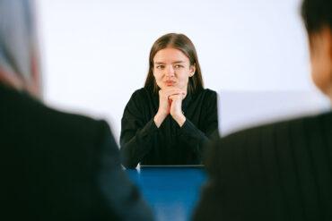An introvert at a job interview