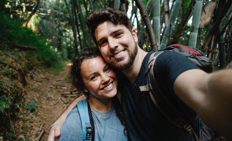 An introvert with their extrovert partner