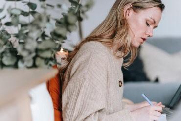 An introvert writing