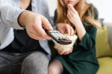 An introvert watches a TV show