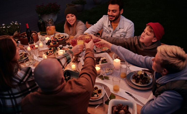 An introvert hosts a dinner party with friends